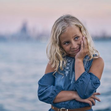 beautiful young girl in Chicago