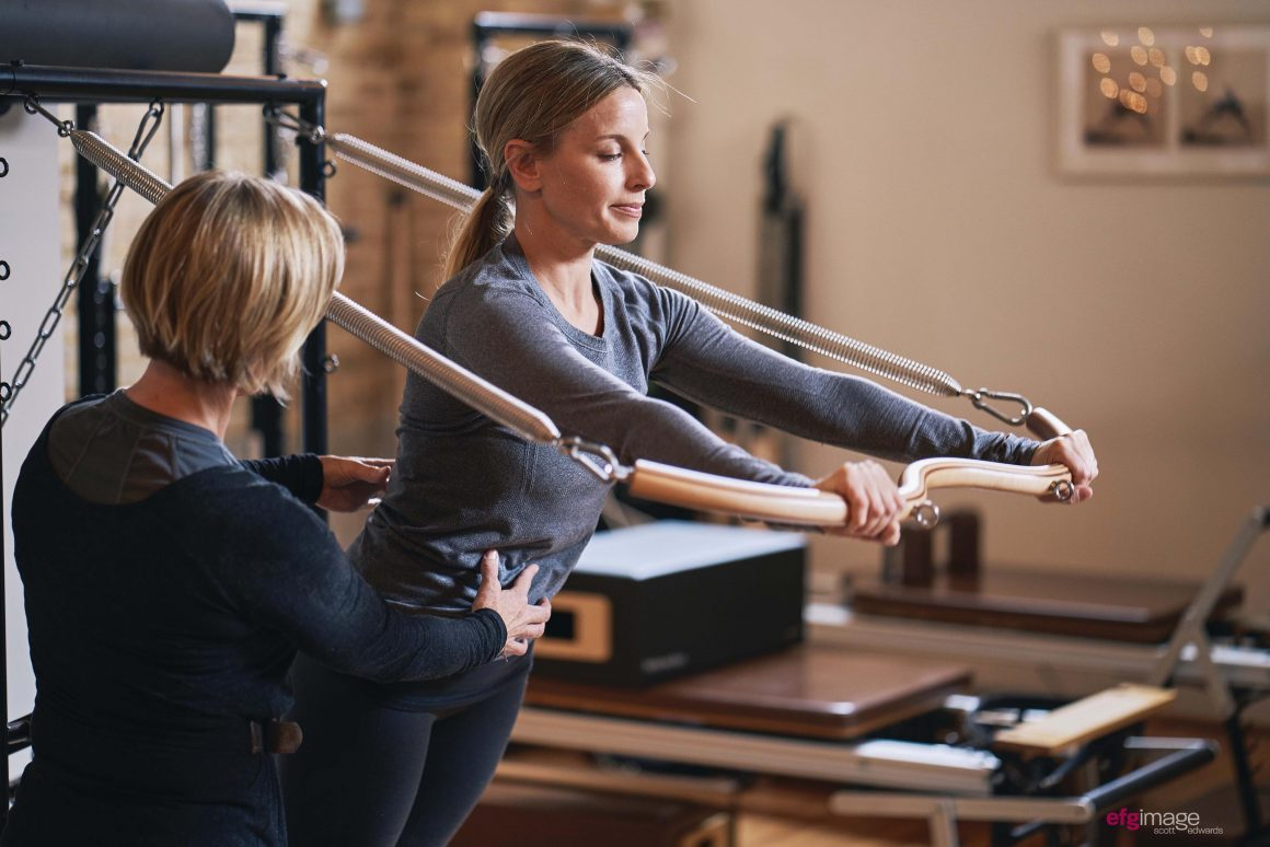 beautiful women do pilates