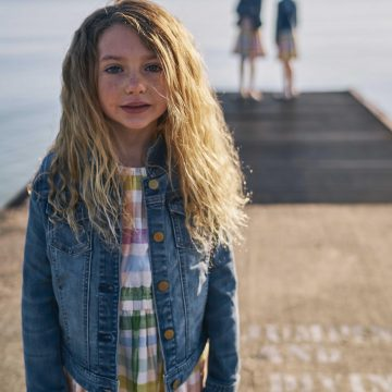 sisters on a pier