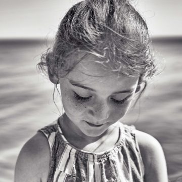 shy young girl